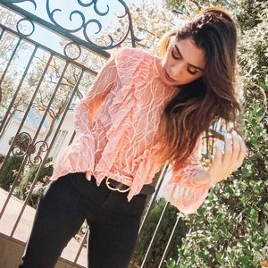 Tops - Coral Lace Top